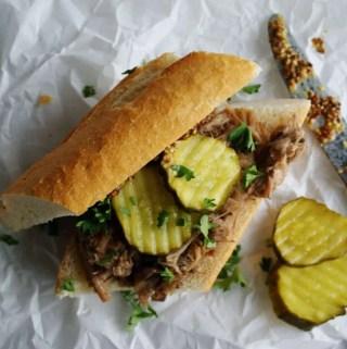 Slow Cooker Pork Sandwiches | anutritionisteats.com