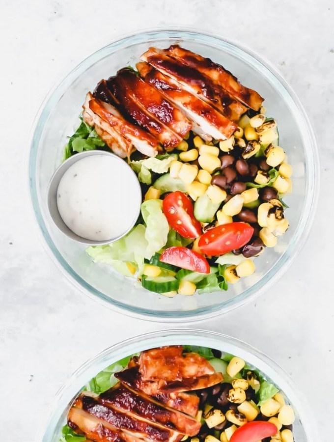 southwest salad in bowls