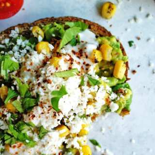 Street corn avocado toast is easy to make and totally acceptable any time of the day!