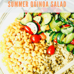 summer quinoa salad - ingredients in a bowl