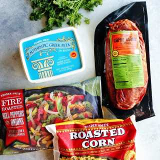 Trader Joe's Recipe: Carne Asada with Pepper & Corn Salad