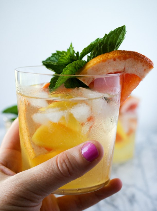 easy white sangria recipe - in a glass