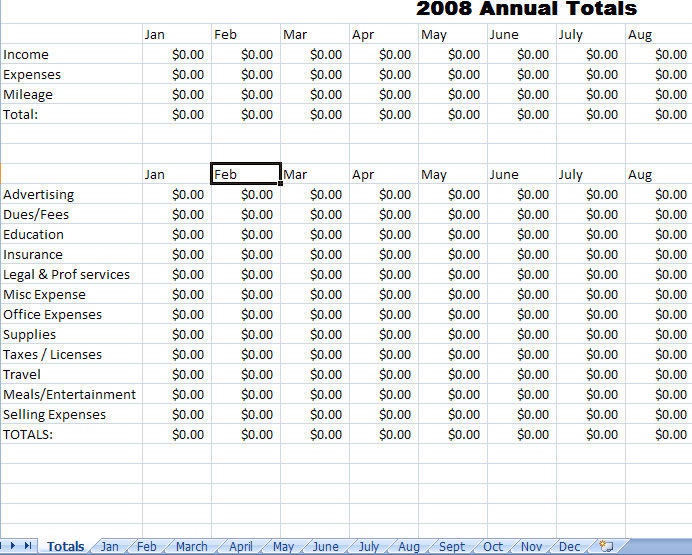 Annual report with data bars Expense Report Template For Excel Blank Expense Report