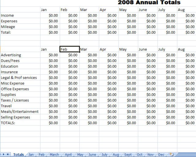Monthly Expense Report Template Excel - FREE DOWNLOAD