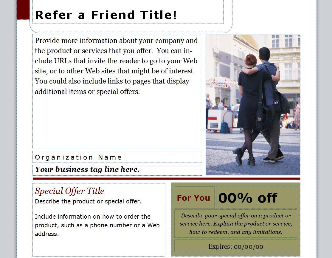 Refer A Friend Coupon Refer A Friend Coupon Template