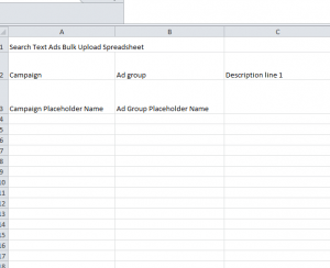 Ad Copy Upload Spreadsheet - My Excel Templates