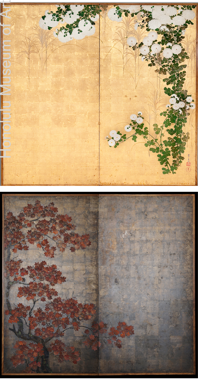 Ogata Kôrin, chrisanthèmes