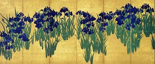 Ogata KORIN, Iris, Musée Nezu, Tokyo