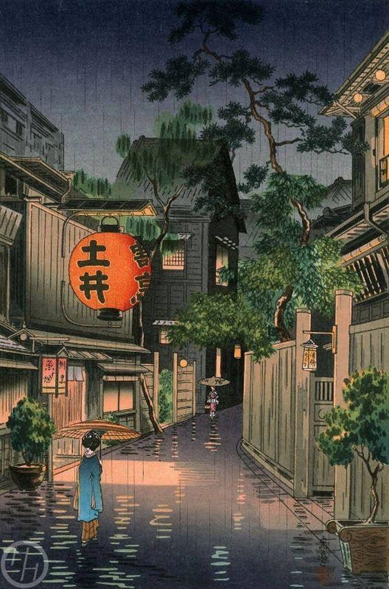 Tsuchiya Koitsu,Raining at Ushigome