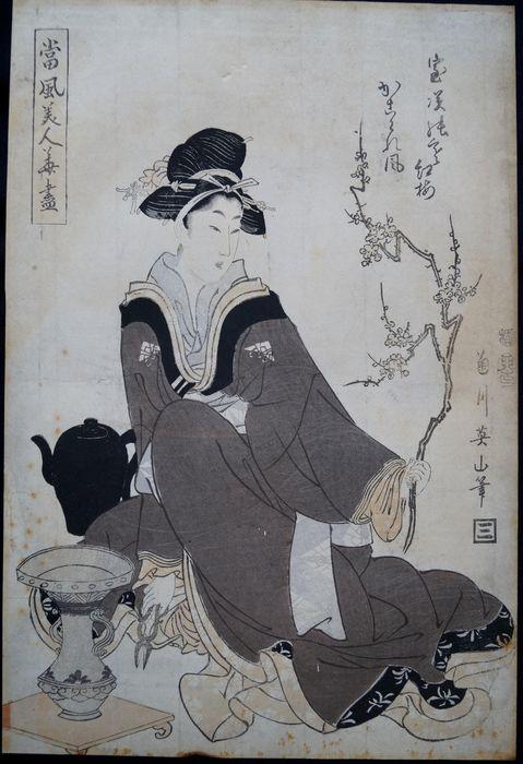kikuka Eizan (1787-1867) prunier rouge