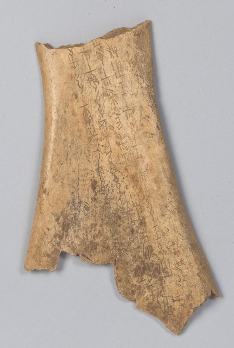 jiaguwen, omoplate de boeuf, ©metropolitan museum
