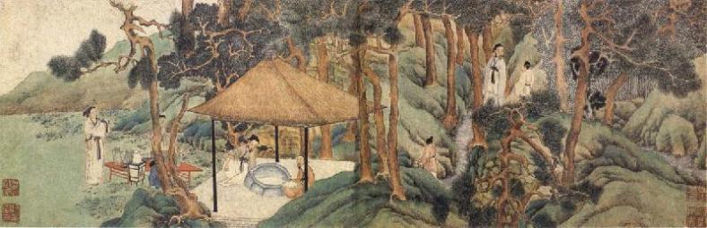 """""""Huishan tea party"""", Wen Zhengming (Ming Dynasty)"""