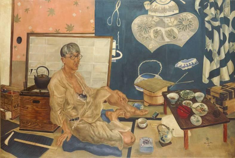 Leonard Foujita's Self Portrait (1936) Masakichi Hirano Art Foundation © Fondation Foujita