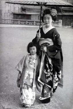 Mineko Iwasaki, à l'âge de six ans