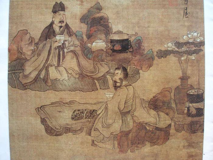 Tea Time, by Chen Hongshou (Ming Dynasty)