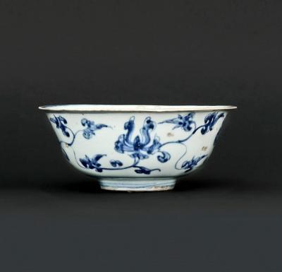 chine, dynastie Ming, bol évasé en porcelaine
