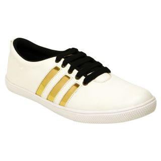men's addy white gold casual shoes