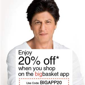 Install Big Basket App and Get 20% Off on Every Product