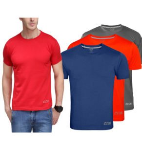333e47f2 Amazon is offering you to buy these value pack of 3 AWG Men's Dryfit Polyester  Round Neck Half Sleeve T-shirts in lowest price ever, hurry