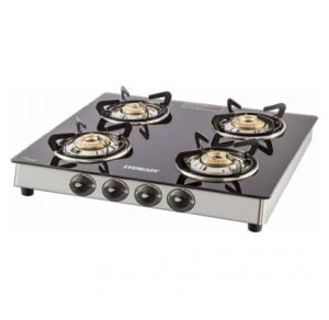 Eveready Stainless Steel 4 Burners Gas Stove