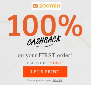 Get 100% Cashback on Customized Prints at Zoomin