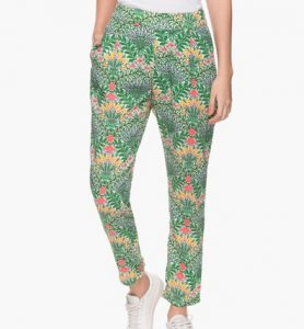 HAUTE CURRY 2 Pocket Printed Pants for women