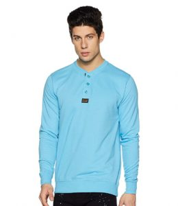 Men's Henley Sweatshirt by Symbol Amazon