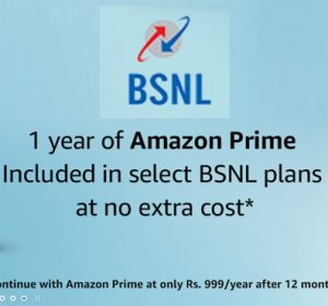 Get 1 Year Amazon Prime subscription free with BSNL