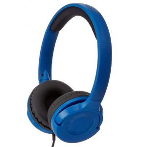 AmazonBasics On Ear Super Bass Headphones - Blue