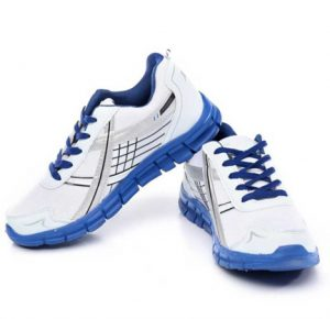 White and Blue SM-200 Running Shoes For Men lowest online