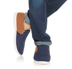 Zudio Navy Star Detailed Stylish Loafers Lowest Online