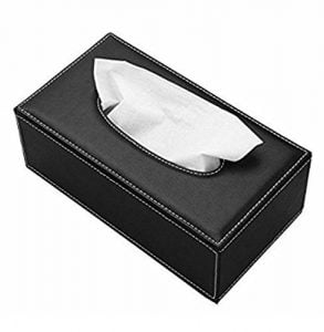 Best Leather Finish Tissue Holder Box with Free Tissues