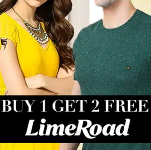 Buy 1 Get 2 Free Offer at Limeroad for men and women