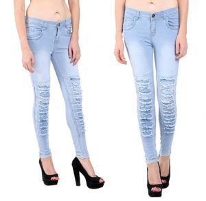 Nifty Women's Slim Fit Designer Ripped Jeans Collection