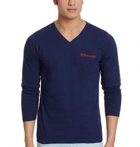 Chromozome Men's Cotton Full Sleeve Simple T-Shirt