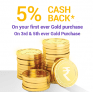 Get 5% Cashback on Buying Digital Gold at Phonepe