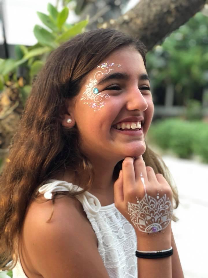 Glitter Face Makeup