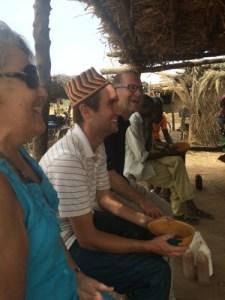 Enjoying the community spirit found at the Dolo Bar (photo Laureen Lund)