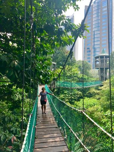 Kuala Lumpur Hanging Bridge Canopy Walk Eco Park