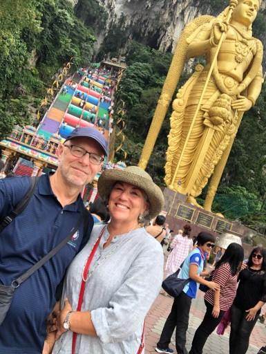 Batu Caves and Hindu God Statue Kuala Lumpur