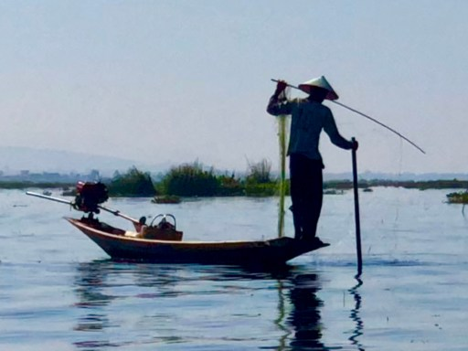 Fishing on Inle Lake Myanmar