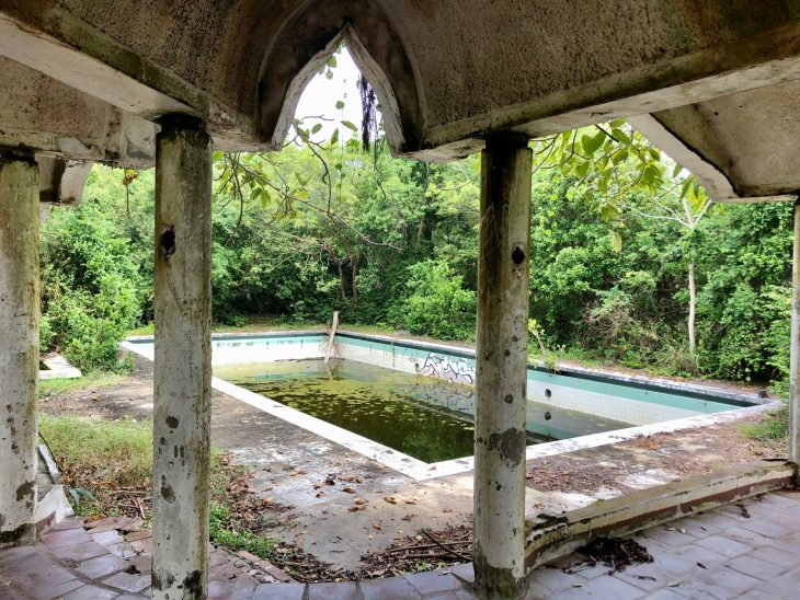 Abandoned swimming pool Kenya