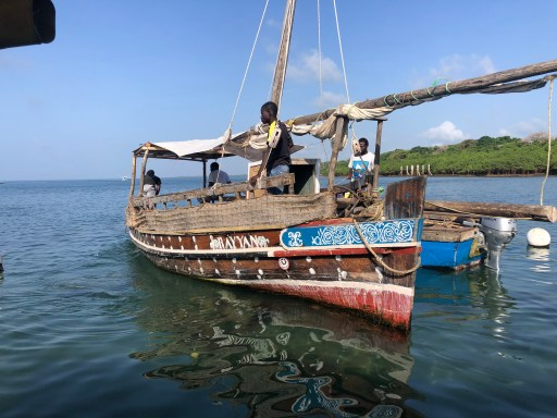 Traditional Dhow boat Diani Beach