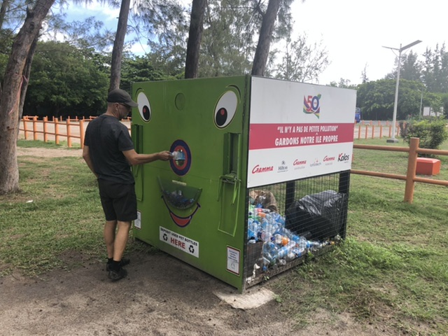 plastic recycling station