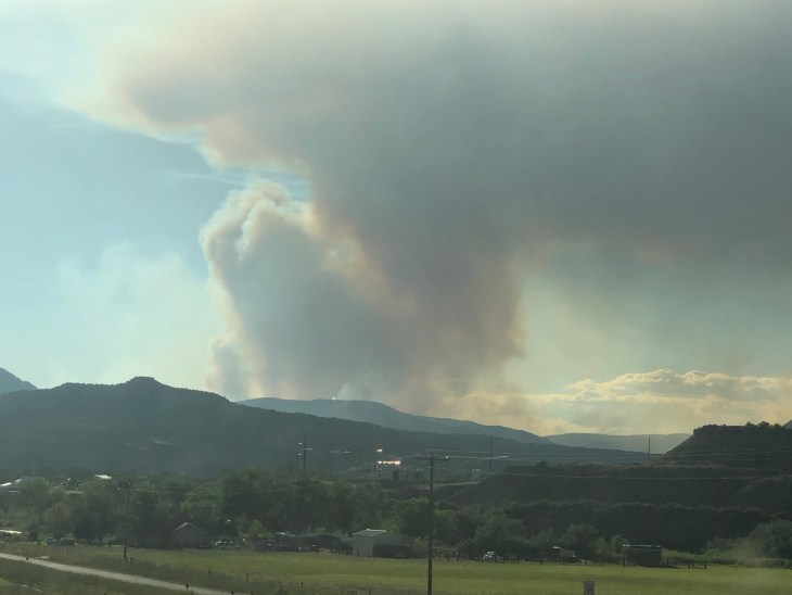 Grizzly Creek Fire Colorado
