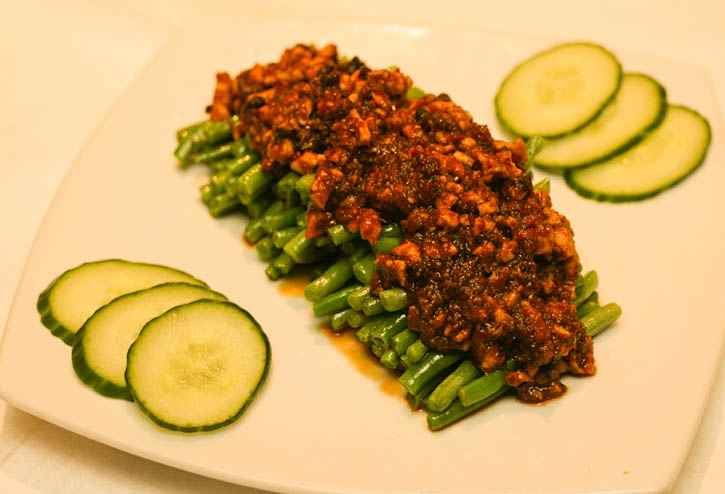 French Beans with chicken mince
