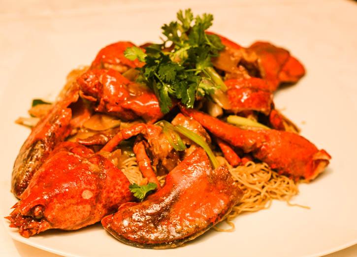Lobster Noodles in Selesa Restaurant
