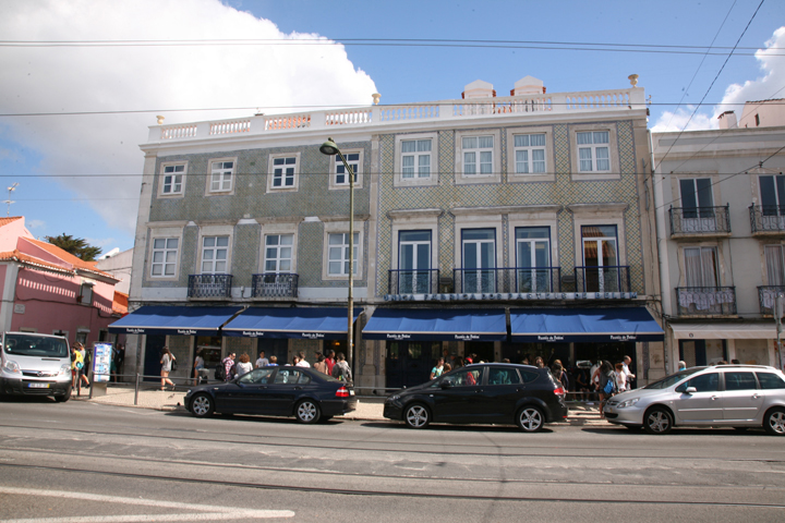 The Exteriors of Casa Pasteis de Belém in Lisbon. The building is renown for the Portuguese Egg Tart.