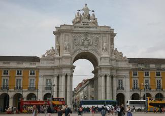 Praça do Comércio Arch at the Praça do Comércio