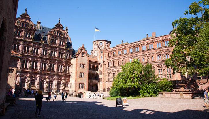 The courtyard of Heidelberg Castle
